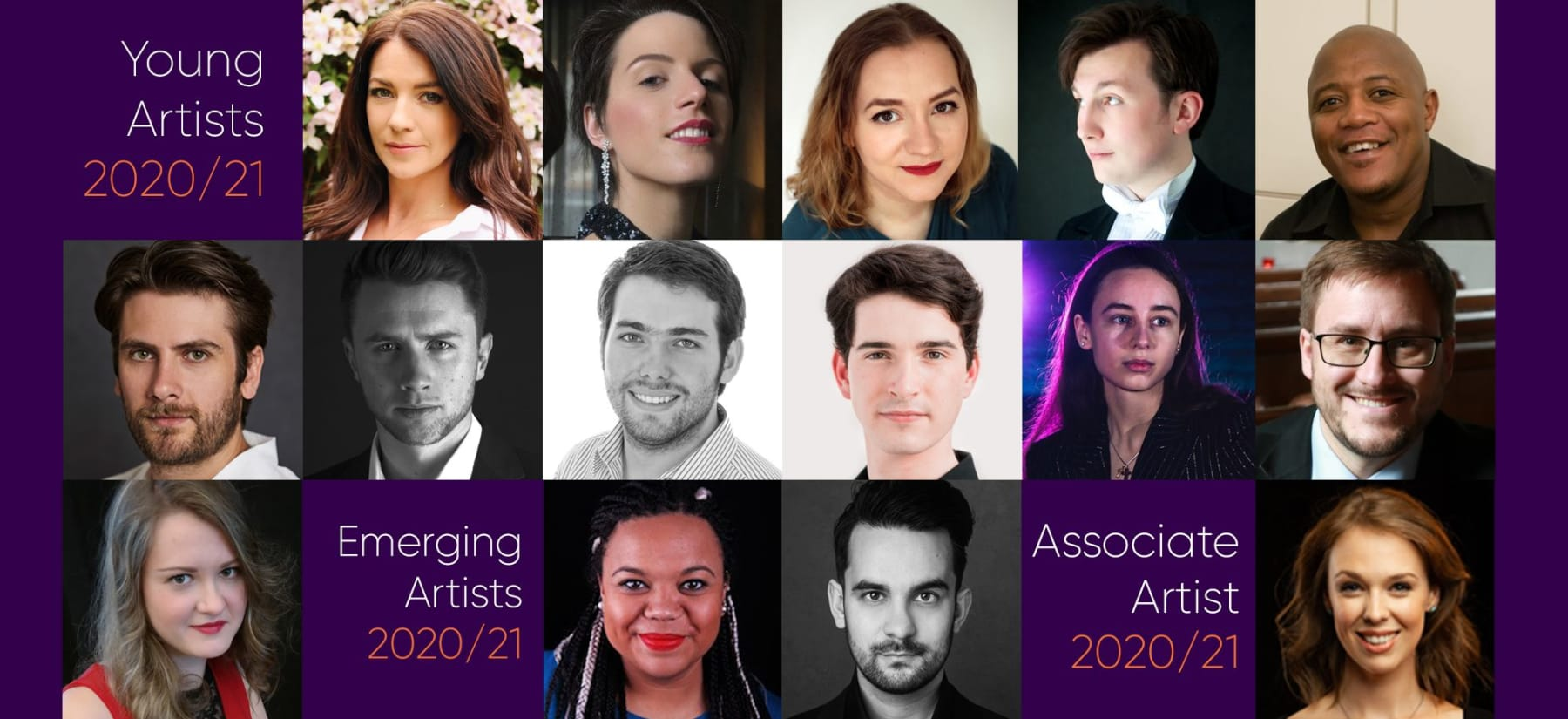 Announcing the 2020/21 Young Artists